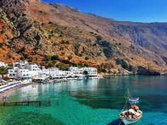 Loutro, Greece. Life goal is to go to Greece.