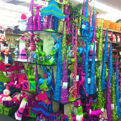 Hobby Lobby- fun, bright Christmas decorations= LOVE!