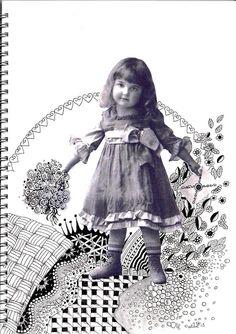 Zentangle che passione!: La  bambina antica