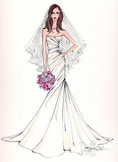 (••)                                                                     Custom Bridal Illustration.