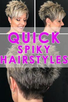 Short Hair Older Women, Short Sassy Haircuts, Short Choppy Hair, Short Grey Hair, Short Hair With Layers, Cute Hairstyles For Short Hair, Short Hair Styles, Messy Pixie Haircut, Choppy Haircuts