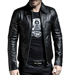 Hey, I found this really awesome Etsy listing at https://www.etsy.com/listing/224391412/men-leather-jacket-black-new-100-genuine