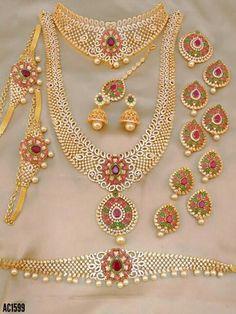 Baby Jewelry, Gold Jewelry, Cz Jewellery, Gold Necklace, Jewelry Collection, Chokers, Fancy, Jewels, Wedding