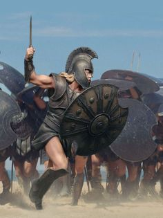 """Вперед мирмидонцы!"" Ахиллес, Микенская Греция, XIII век до н.э. А2.9. М1:14 (120 мм) Spartan Warrior, Viking Warrior, Arte Assassins Creed, Spartan Tattoo, Statues, Greek Soldier, Roman Warriors, Greek Warrior, Trojan War"