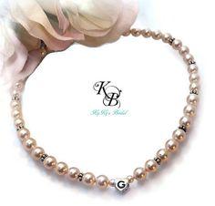 Flower Girl Necklace, Personalized, Swarovski Pearl, Flower Girl Gift, Personalized Necklace, Little Girl Necklace, Wedding Jewelry