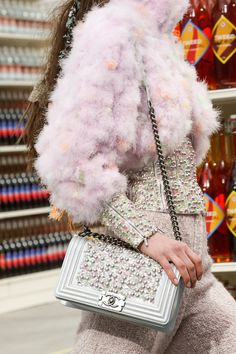Chanel 2014 Runway pearl Embellished Flap Bag #chanel #summer14 #pearls #stoneandstrand #loves