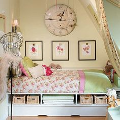 Love this girly room...love the storage