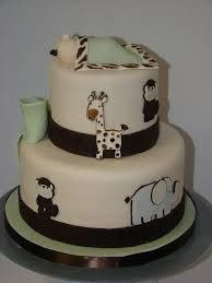 neutral colour baby shower cake - Google Search