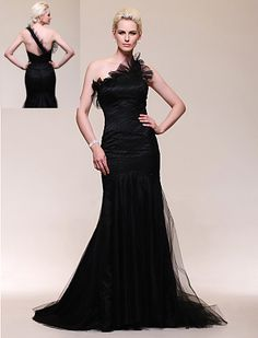 Elegant Lady, Luxury, Glamorous, Movie Star, Fashion, Black Satin Tulle Trumpet/Mermaid/Hourglass, One Shoulder, Sweep Train Evening Dress/Gown inspired by Julia Stiles at Golden Globe Award --- $275 --- Size: 2-4-6-8-10-12-14-16 --- Included Shipping within United States --- Paypal Payment --- Send a note for more details --- Style 012