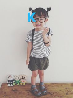 keemiiiii│FJALLRAVEN TRAVELのバックパック/リュックコーディネート-WEAR Little Girl Outfits, Little Girl Fashion, Toddler Fashion, Boy Outfits, Little Girls, Kids Fashion, Kids Girls, Baby Kids, Baby Baby
