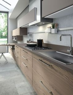"""""""Zoe Design"""" Collection. Modern kitchens with furnishings and accessories minimal and contemporary. 100% made in Italy. #artre #kitchen #furniture #design #italy #miami #showroom #wynwood #designdistrict #bieffedesign Wynwood Art District / 48 NW 25th Street Suite #101 Miami, FL 33127. Ph +1 305-639-8696  info@bieffedesign... www.bieffedesign.com"""