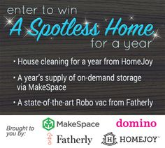 Enter to win a yr of home cleaning via @Homejoy, yr of on-demand storage via @MakeSpace + robot vac via @FatherlyHQ: http://virl.io/COOXuPIz