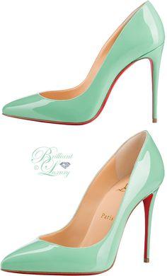 7a622c08219d Brilliant Luxury ♢ Christian Louboutin Pigalle Follies superfine stiletto  heels in opal