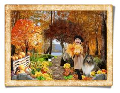 """""""Fun in Fall"""" by sgolis ❤ liked on Polyvore featuring art, autumn, pumpkin and zazzlepostcard"""
