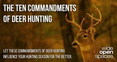 Ten Commandments of deer hunting.