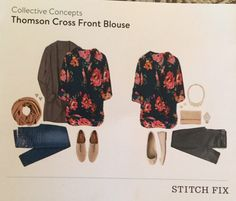 Stitch Fix Review: collective concepts Thomson cross front blouse status: returned reason: I hate to say this but my stitch fix stylist really missed the mark on this entire fix. The floral was way too much for me and the fit was just not working on any part of my body. This was not my style but I blame myself because though I communicated through the website I should have used Pinterest to give my stylist more ideas of what I wanted.