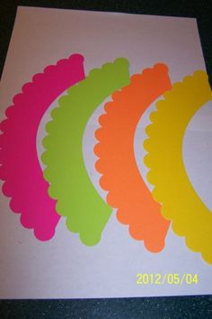 24 bright neon Cupcake Wrappers Liners all occasion party birthday bridal shower pool party. $6.99, via Etsy.