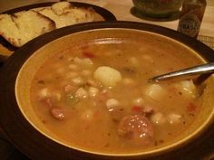 Garbanzo Bean Soup (Spanish Bean Soup) #allkindsofrecipes