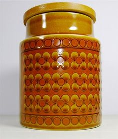 Vintage 70s Retro Kitchen Storage Jar Pot Hornsea Pottery Saffron Kitchenalia | eBay