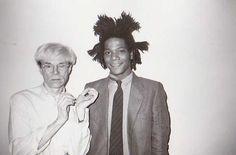CHRISTOPHER MAKOS : ANDY WARHOL et JEAN MICHEL BASQUIAT, 1982 Tirage argentique…