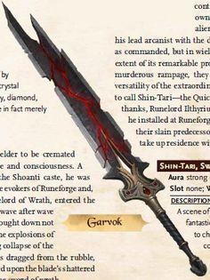 Garvok, Sword of Wrath