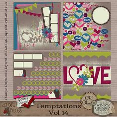 Looking for some great Valentine's templates.  Wendy has some fantastic ones.  Temptations Vol. 14 {CU/PU/S4O/S4H} [wt_Tmp14] - $2.79 : Scraps N Pieces Store