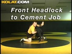 Front Headlock to Cement Job KOLAT.COM Wrestling Moves Techniques Instru...