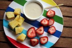 Jason's Deli Fruit Dip Recipe  1 cup sour cream  1/2 cup light brown sugar  4 tsp Grand Marnier