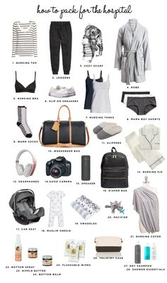 11 amazing pregnancy tips that may have you rockin' bump life. Discover beneficial hacks to help you survive all three trimesters of pregnancy! Hospital Bag For Mom To Be, Baby Hospital Outfit, Maternity Hospital Bag, Mommy Hospital Bag, Csection Hospital Bag, Pregnancy Hospital Bag Checklist, Maternity Pajamas, Baby Life Hacks, Baby Planning