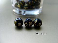 Onyx beads, natural stone beads, genuine Onyx beads, mantra Mala beads, healing stones and crystals, gemstone beads, bulk beads, 8mm beads