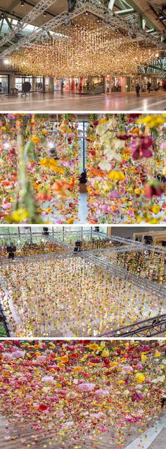 rebecca louise law, flower installation in berlin Flower Power, Modern Art, Contemporary Art, Flower Installation, Light Installation, Displays, Colossal Art, Wow Art, Oeuvre D'art