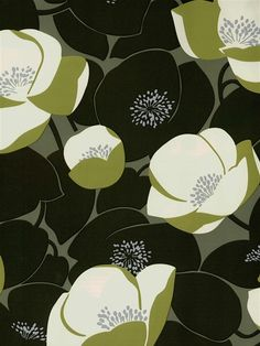 These black and olive green poppies will add a fun and contemporary vibe to your space. From the book Amy Butler at AmericanBlinds.com