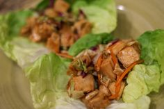 Easy Low Calorie Meal: Sweet and Spicy Lettuce Wraps