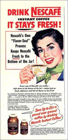 Nescafe Coffee Ad, 1952