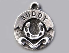 Dog Tags for Dogs Custom Hand Stamped  Pewter