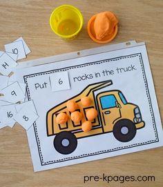 Printable Transportation Play Dough Mats for Preschool and Kindergarten