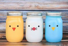 These would be super cute using baby food jars and filled with jelly beans.