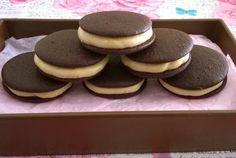 Receta de whoopies de chocolate - Thecookiesbox. Blog repostería creativa.