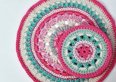 As promised, here is the pattern to my Summer Rose Coasters. Enjoy! materials: Cascade Ultra Pima yarn (in five colours) 3.5mm crochet hook needle for sewing ends in abbreviations: ch: chain htr: h…