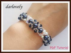 Swarovski Crystal Blue Pearl Bracelet BB037  PDF by darlovely, $6.80