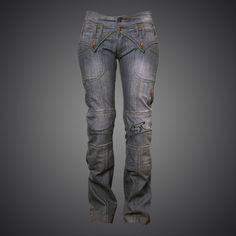 36c84bdab24ac9 4SR Jeans Lady Star Grey biker jeans Motorcycle Jeans, Biker Jeans,  Motorcycle Leather,