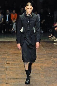 Comme des Garçon; men's skirt.