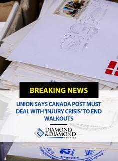 Union says Canada Post must deal with 'injury crisis' to end walkouts Canada Post, Toronto Star, Personal Injury Lawyer, Current News, Positivity, Sayings, Lyrics, Word Of Wisdom, Quotations