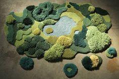 Alexandra Kehayoglou's rug made from scraps. Gorgeous!