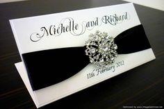 Black and White Elegant Wedding Invitation - via Etsy.