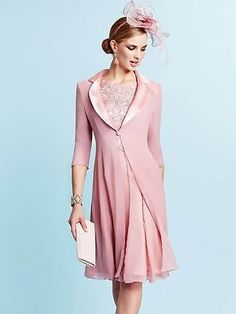 Veni Infantino Pink Peach 99126 Mother of the Bride Outfit UK12 £599