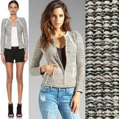 Naf Naf women's tweed jacket with fringe · Naf Naf · Fashion