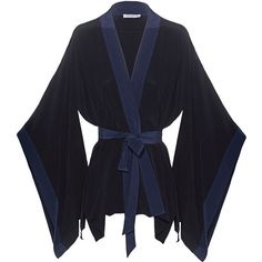 EQUIPMENT Elias Contrast Blackv // Silk kimono (10.110 RUB) ❤ liked on Polyvore featuring intimates, robes, underwear, long sleeve kimono, silk kimono robe, silk robe, silk kimono and kimono robe