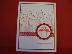 Card to go with previous pin on my board using Stampin' Up! Valentine Defined retired stamp set.