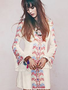 pretty bohemian tunic dress from free people